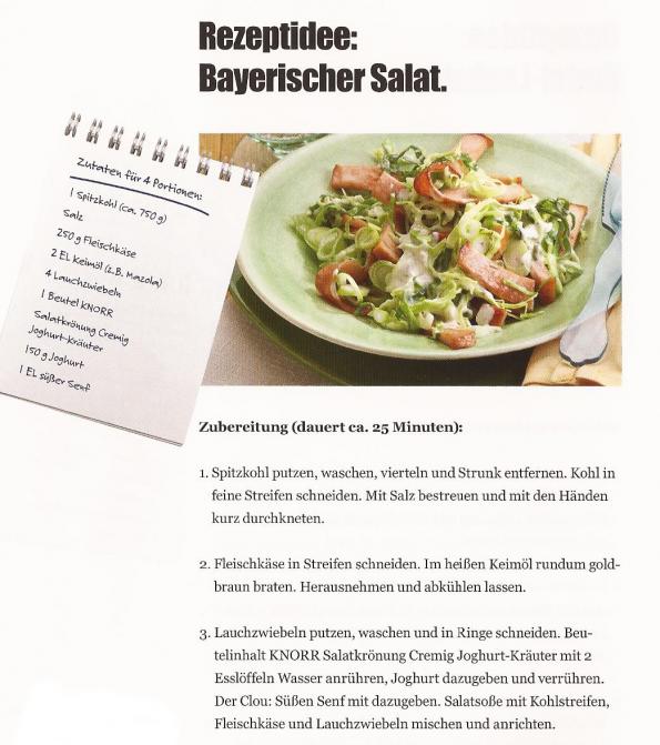 Bayerischer Salat Rezept