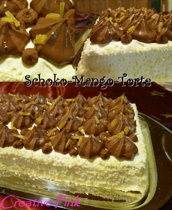 Schoko-Mango-Torte Collage
