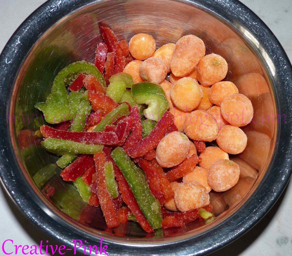 Paprika und Karotten