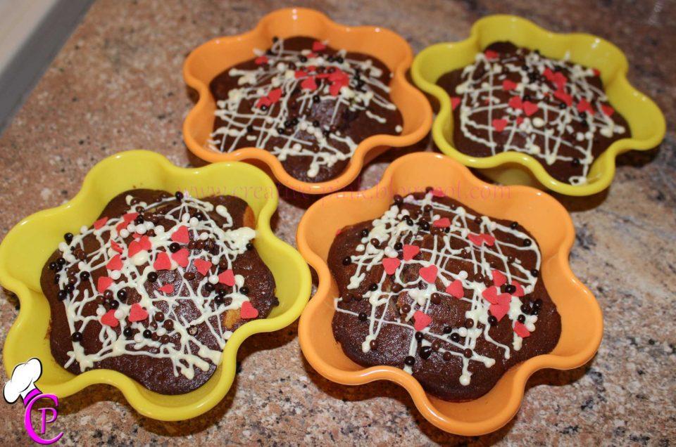 Kleine Schokokuchen-Marmorkuchen